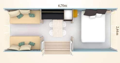 Plan Mobile Home : Loggia